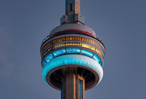 CN Tower in teal