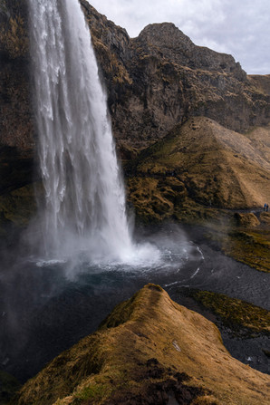 Seljalandsfoss waterfall in the spring in Iceland