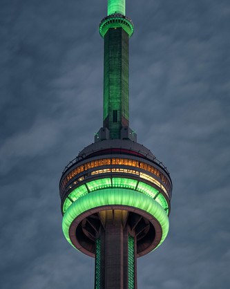 CN Tower in green