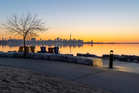 Toronto lakeshore sunrise