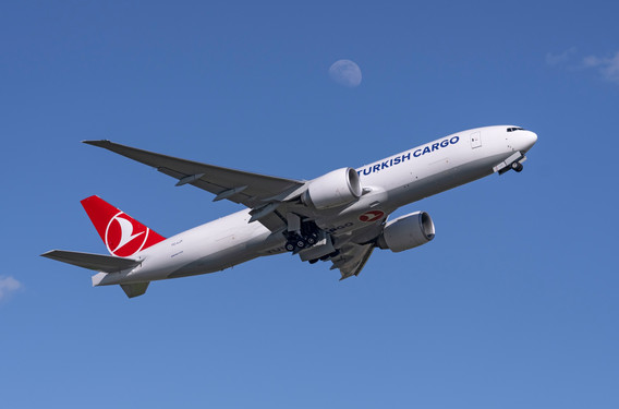 Boeing 777 Freighter on route to Istanbul