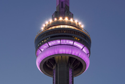 CN Tower in purple