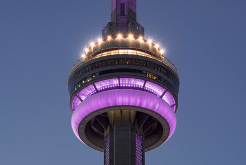 CN Tower in purple