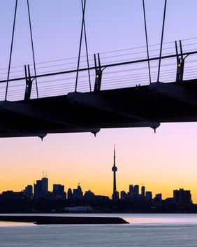 Toronto sunrise silhouette