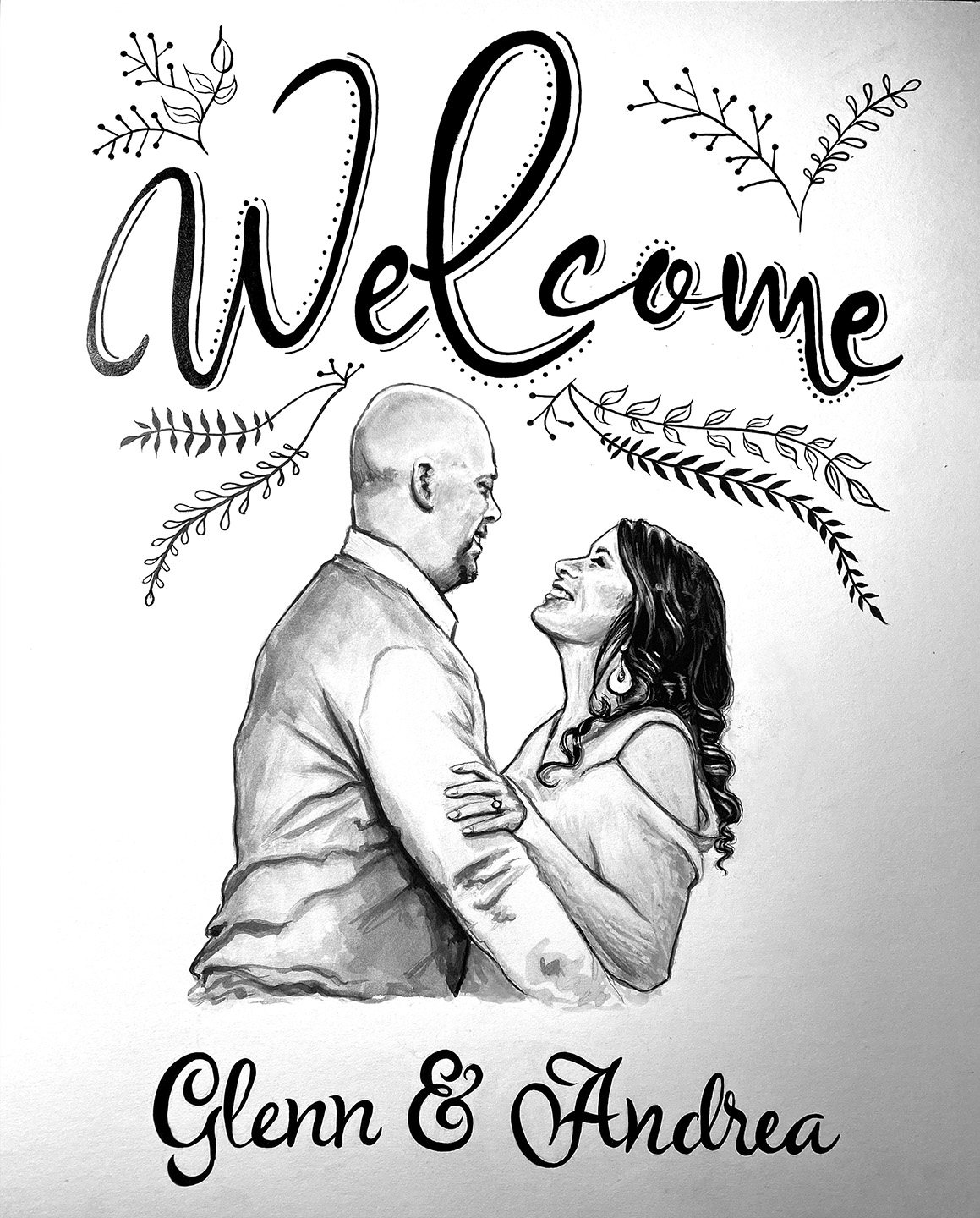Wedding Welcome Sign (ink)
