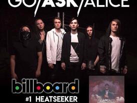 GO / ASK / ALICE Debut at Number 1 on Billboard Heatseeker Mountain Chart
