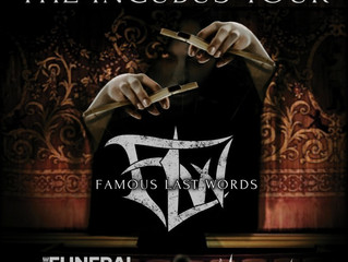 Fallen And Forgotten to join Famous Last Words Dec.2!