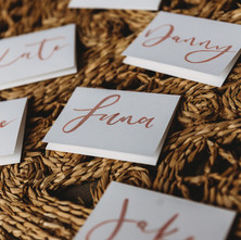 Simple Calligraphy Place Cards