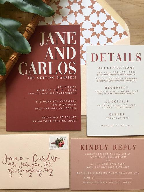 The Jane - Semi Custom Invitation Suite