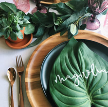 Tropical Place Card Setting