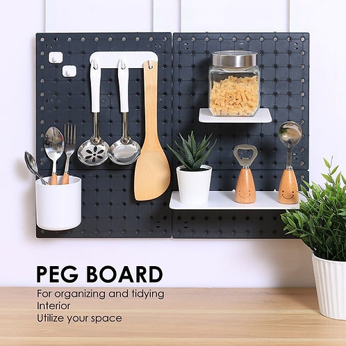 Multiple Set Pegboards | Wall Shelf Organizer