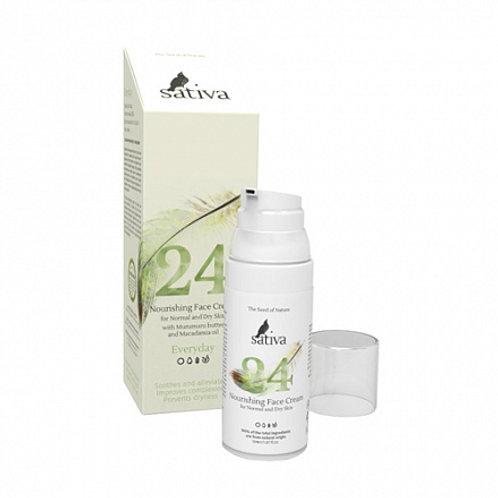 """Крем для лица """"Питательный №24"""" для нормального и сухого типа кожи Sativa"""