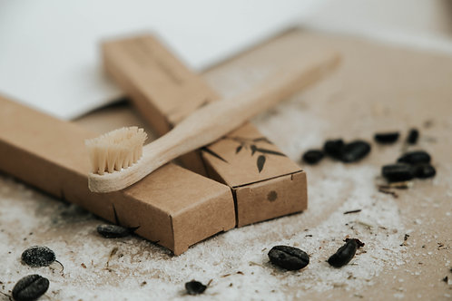 Bamboo Toothbrush - Зубная щетка из бамбука с угольным напылением, Мягкая (Mini)