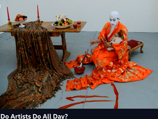 What do artists do all day?