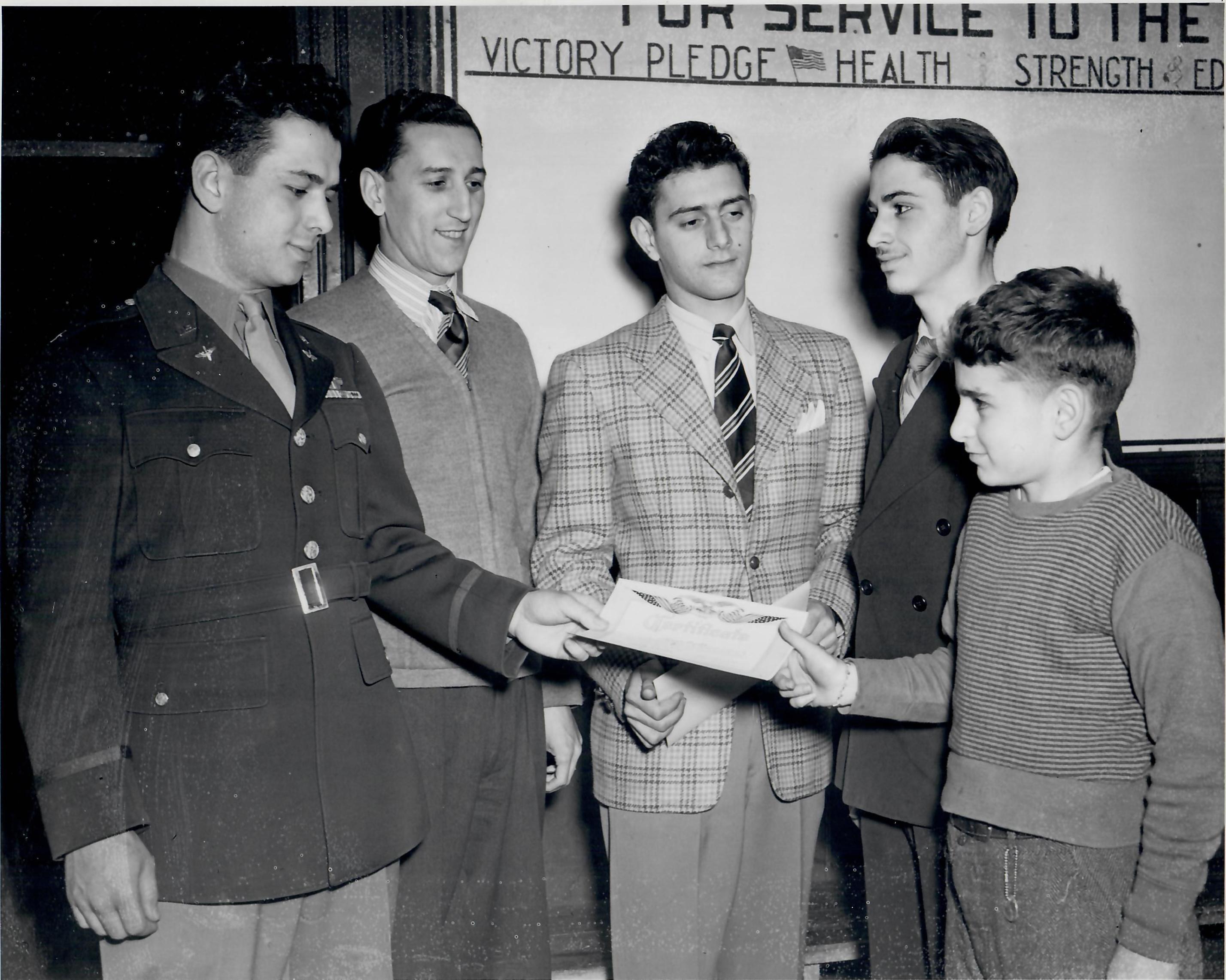 Servicemen Visit to Club.