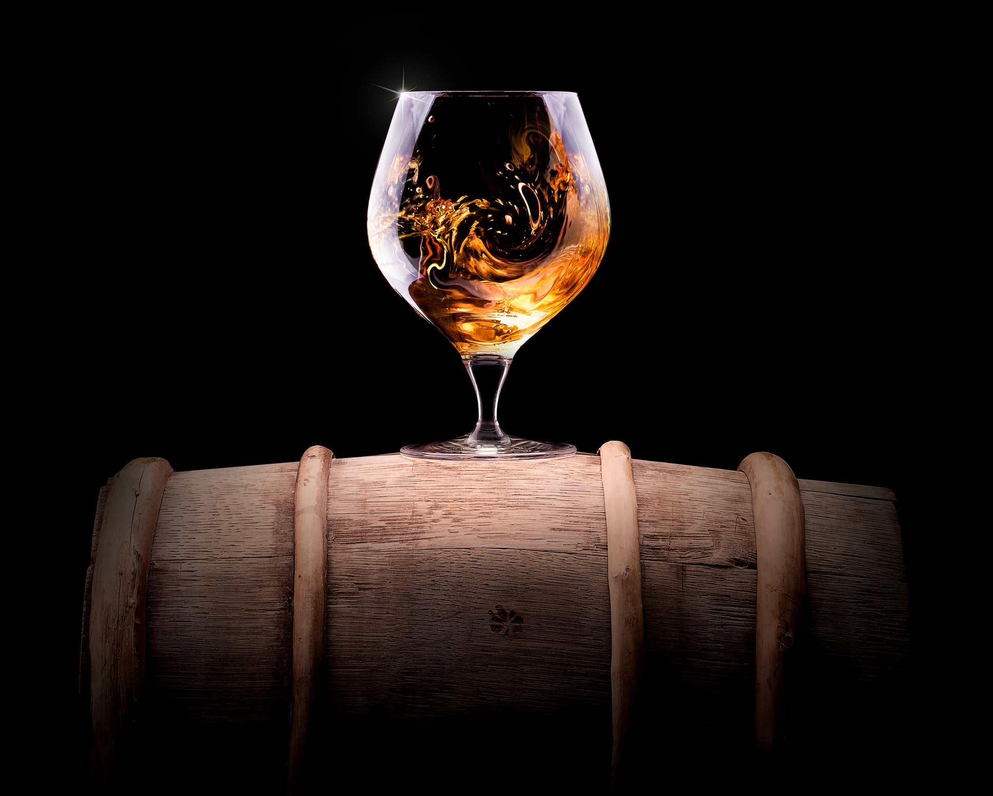 cognac on a barrell