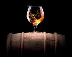 cognac on a barrell