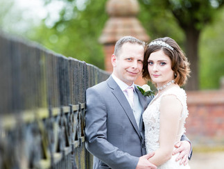 Dunston hall wedding portrait of the bride and groom
