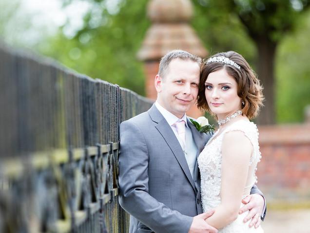 Dunston hall wedding portrait of the bride and groom