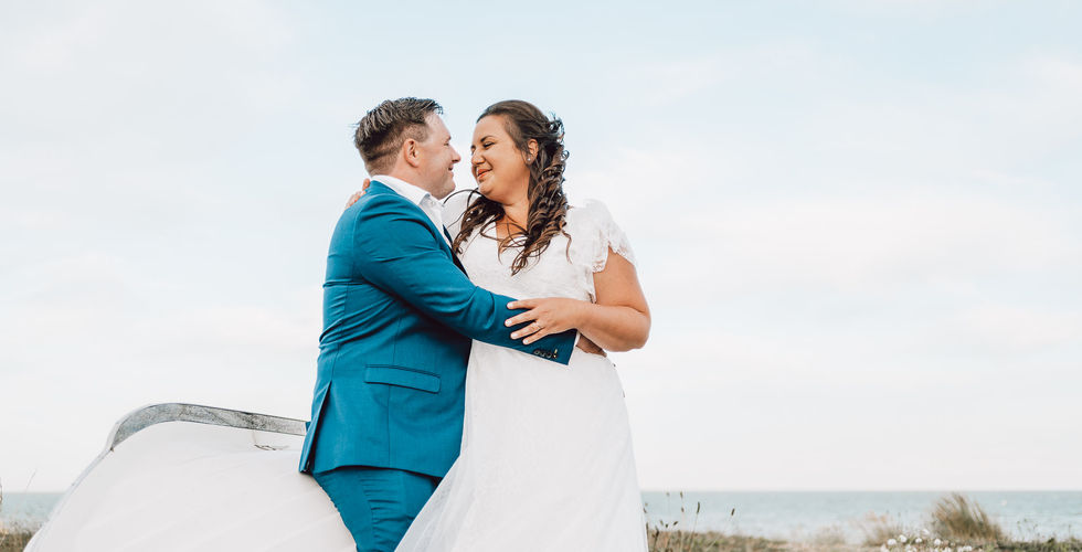 Pakefield beach wedding