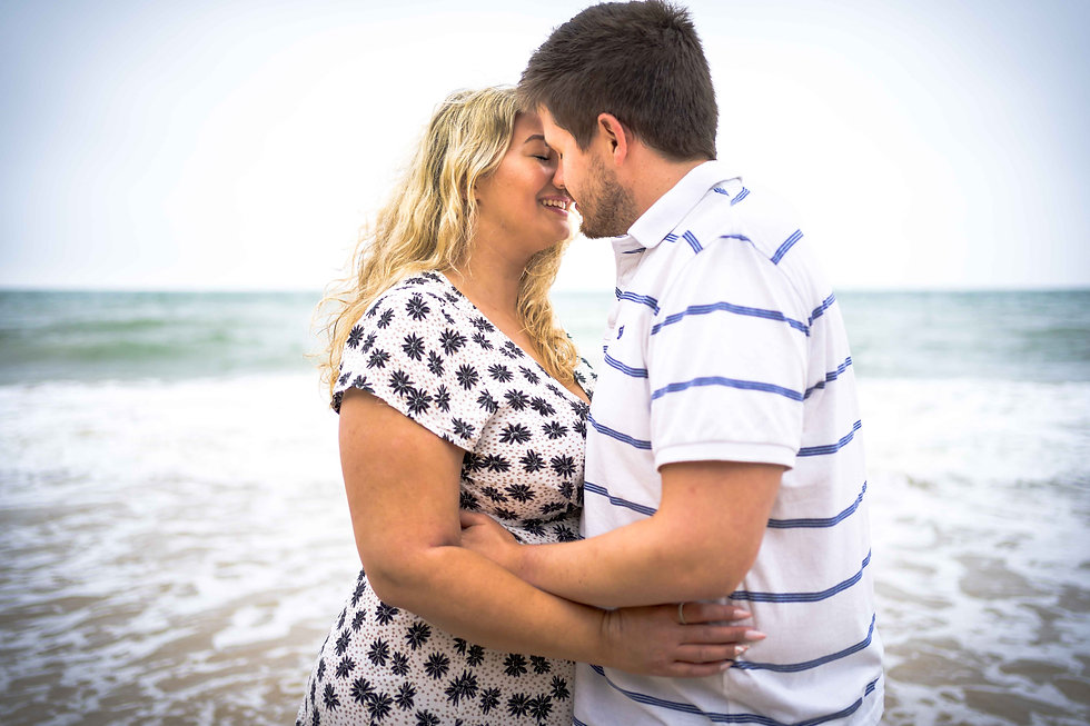 Norwich wedding photographer engagement shoot in cromer