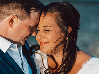 Mia & Gary Pakefield beach wedding