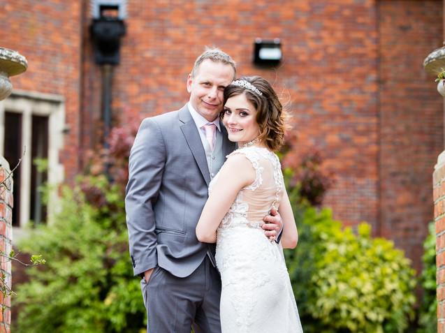 dunston hall wedding bride and groom