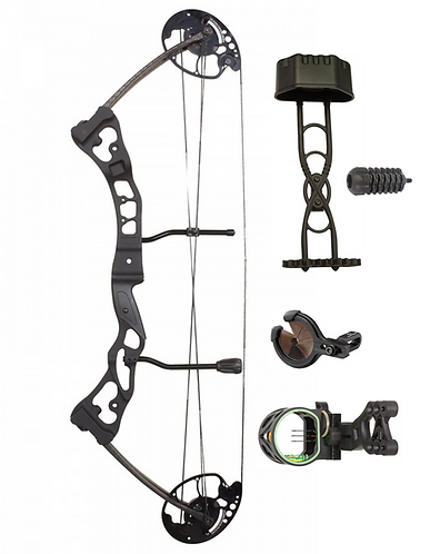 20-65# - Hori-Zone Vulture Black Compound Bow With Package