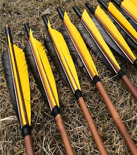 6 Pcs - Handmade Bamboo Arrows