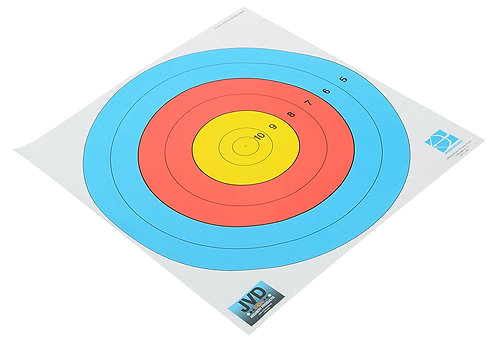 6-Ring JVD Target Paper (With Numbers)