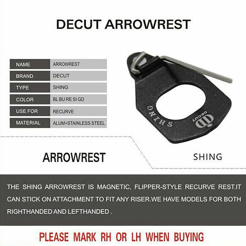 DECUT SHING ARROW REST - LEFT HANDED