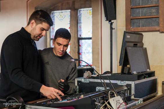 Soundcheck mit Julian & Tobias...