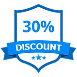 30% Discount Blue