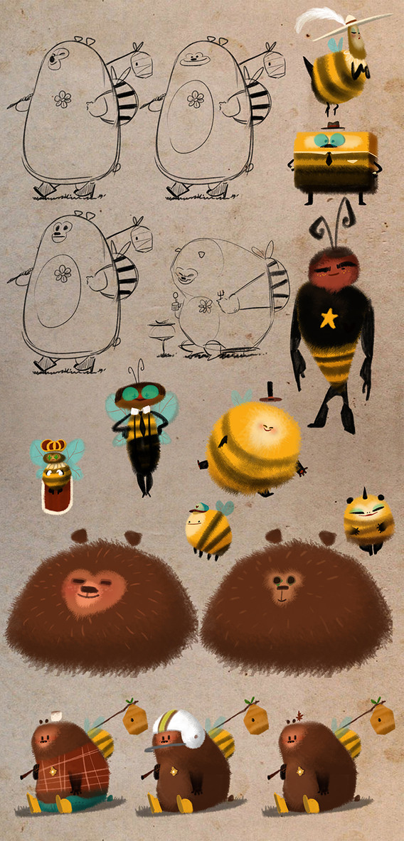 Bee's and a Bear