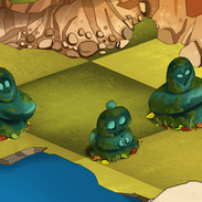 Greenspace decorations - rock statues