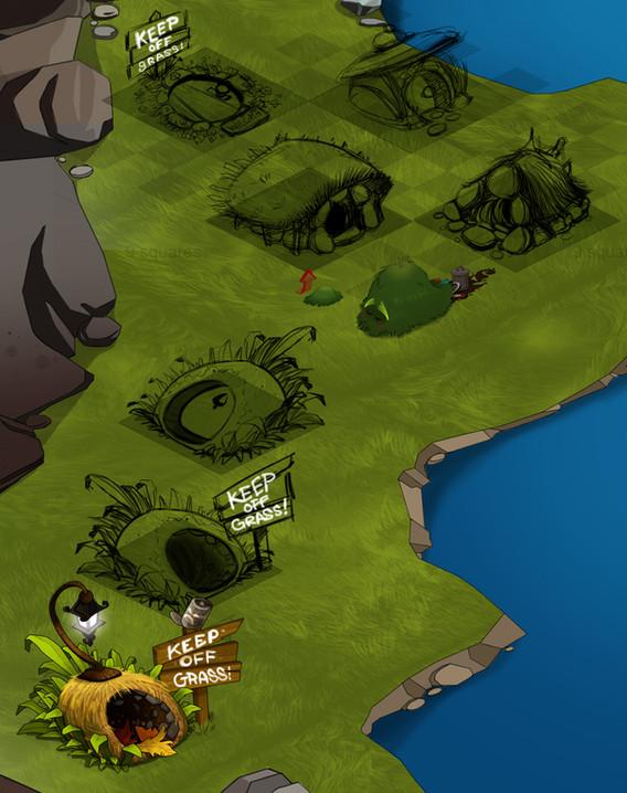 NPC pet home grass monster