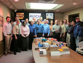 Auch donates Packages for Troops.