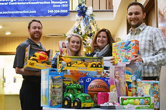 Auch donates to Toys for Tots.