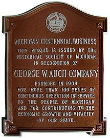 Auch 100 years, Michigan Centennial Business