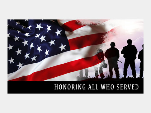 Banner Graphic For Veteran's Day
