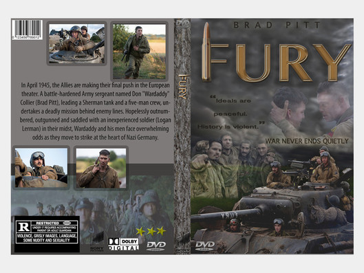 Fury DVD cover case