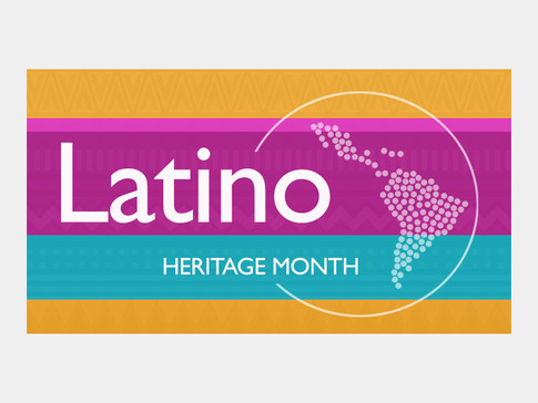 Banner Graphic for Latino Heritage Month