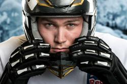Fabian Mels mit Helm