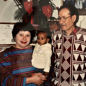 Evans Pierre with Lise and Guy-1992.jpg