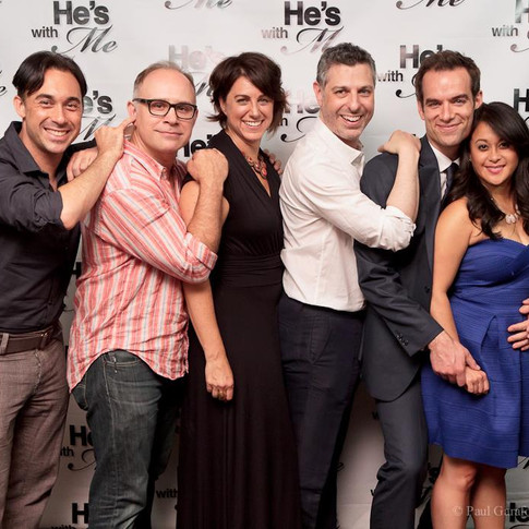 """With the cast of """"He's With Me"""" at the Season Two Premiere"""