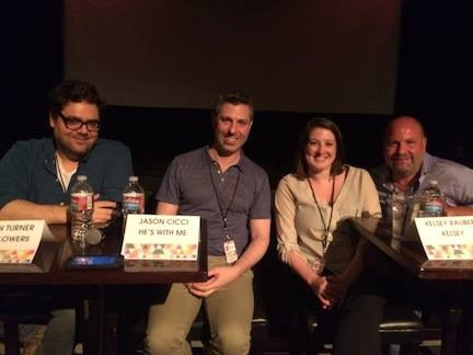 At the Denver Film Festival with Kieran Turner, Kelsey Rauber and Rick Copp