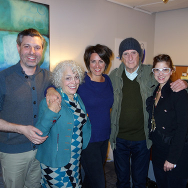 "On the set of ""A Conversational Place""with Marilyn Sokol, Darcie Siciliano, Director Bob Giraldi and Catherine Zambri"