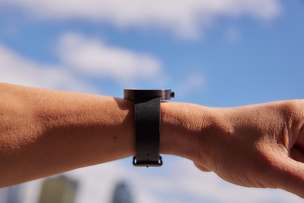 Minimalist side profile of watch