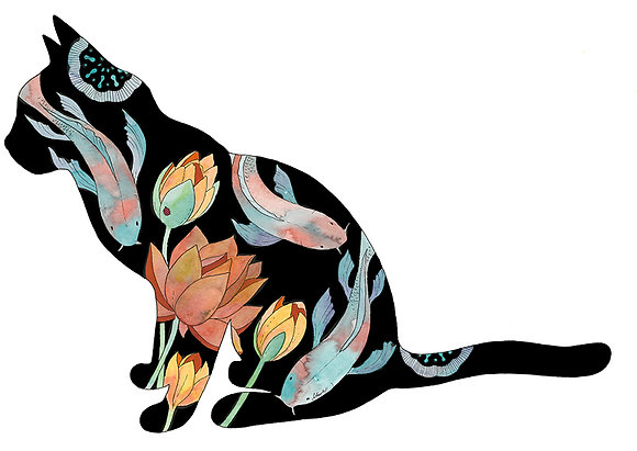 Koi Cat 3 (Size: A3)