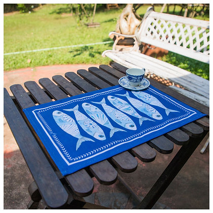 Azulejos Blue Fish Placemat